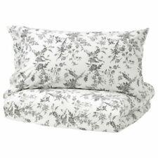 IKEA Alvine Kvist 3pc Set Duvet Quilt Cover French Country Gray Toile Roses King