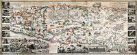 1823 Map of the Land of Promise and the Holy City of Jerusalem Wall Art Poster
