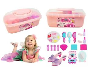 Kid Hairdressing Role Play Set Beauty Pretend Hairdresser Shoes Makeup Girls Toy