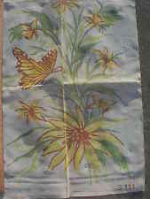 """Vintage Painted needlepoint canvas """" Butterfly is large"""" by R & D Creations"""
