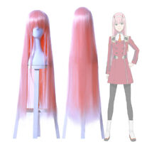 Darling in the Franxx ZERO TWO CODE:002 Long Pink Cosplay Full Wigs Party Hair