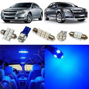 8x Bright Blue LED Dome Interior Light Kit For Chevrolet Malibu 2008-2012 CM3B
