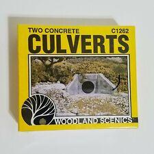 Woodland Scenics HO Two Concrete Culerts C1262 NEW Unopened