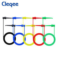 5PCS Multimeter Electrical Dual SMD IC Test Hook Silicone Lead Cable 5 Colors