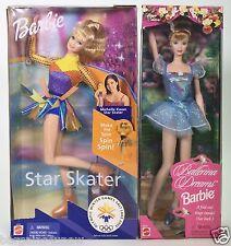 LOT OF 2 BARBIES BARBIE STAR SKATER BALLERINA DREAMS BARBIE NRFB