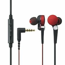 ELECOM EHP-CS3570 In-Ear Headset for Smartphones 'Grand Bass System' Red NEW