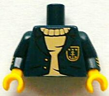 LEGO - Minifig, Torso Jacket Open w/ Gold Buttons & Anchor over Tan Sweater