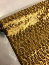 "1 MTR ANTIQUE GOLD BROCADE JACQUARD FABRIC....45"" £6.99 FREE P&P"