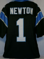 Cam Newton Unsigned Custom Sewn Black Football Jersey Size - L, XL, 2XL