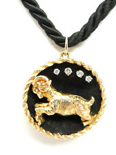 Custom,  14 K Gold With Diamonds,  Capricorn Necklace