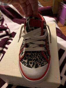 Coach Barrett Animal Print Cheetah Leopard Fashion Sneakers 7.5