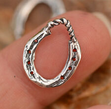 Artisan Horse Shoe Charm, ONE Sterling Silver Horse Shoe