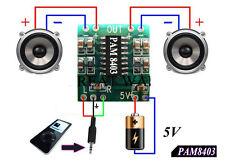 Mini Digital Amplificador de Audio 2,5V - 5V 3W AMP Modulo 5V USB PAM8403