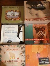 Hörbuch 33 CD Hörbücher Paket Konvolut 6 Hörbücher Sara Gruen Isabel Allende