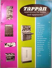 TAPPAN Appliances Catalog RETRO Kitchen Range Oven Refrigerator Dishwasher 1964