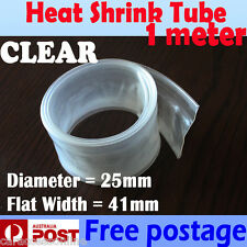 Heat Shrink tube Heatshrink tubing Sleeving CLEAR dia=25mm 1meter