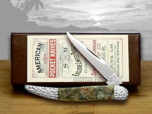 Schatt & Morgan Toothpick Knife Genuine Chipped Abalone Pocket
