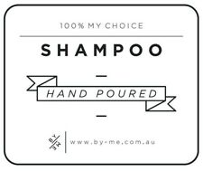 LARGE Shampoo Decal - White (removable/ reusable/ waterproof DIY label)