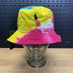 Polo Ralph Lauren Tie-Dye Chino Bucket Hat Cap Men's Size S/M