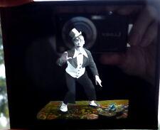 Cirque. Clown. Photographie sur verre finement colorisée. Vers 1880