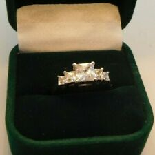 Art Deco Style Ring ( Cubic Zirconia ) Sterling Silver