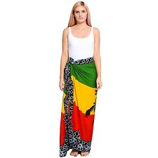 Women's  Rasta Lion print sarong with buckle-51014