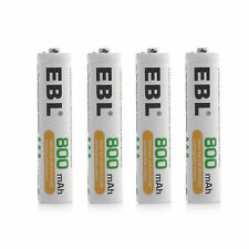 (4) EBL 800mAh AAA Rechargeable Replacement Batteries for Camera Solar Light etc