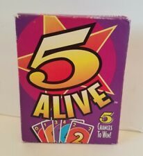 Vintage 1994 Mattel Card Game 5 Alive Used