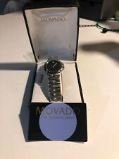 Movado The Museum Watch Stainless Steel Black Face T4A4028K Swiss Made Quartz