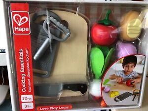 Hape Cooking Kids Wooden Pretend Kitchen Play Food & Accessories Set (Open Box)