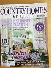 COUNTRY HOMES & INTERIORS MAGAZINE  June 2010 Summer Inspiration from UK