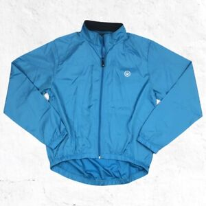 Canari Full Zip Windbreaker Cycling Jacket - Womens Size XL Blue