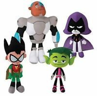 Teen Titans Go Plush Toy Doll Figure 5 Piece Set Robin Beast Boy Cyborg Starfire