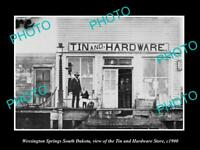 OLD LARGE HISTORIC PHOTO OF WESSINGTON SPRINGS NORTH DAKOTA, THE TIN STORE c1900