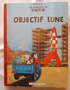 TINTIN  OBJECTIF  LUNE  EO  FRANCAISE  B8 ©1953