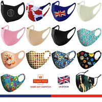 Face Mask Washable UK Reusable Masks Mouth Nose Breathable Protection Cover