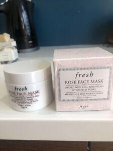Fresh Rose Face Mask 3.3oz FULL SIZE Brand New
