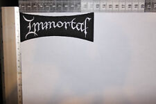 IMMORTAL WHITE LOGO EMBROIDERED PATCH (SEW ON)