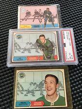 3 1968 Hockey Cards Including PSA 6