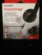 New! Dreamgear- BoomChat Audio Cable with Boom Mic - Black -DGUN-2859