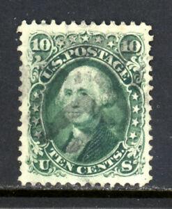 SCOTT 68 1861 10 CENT WASHINGTON ISSUE GRADED PSE CERT USED VF-XF CAT $130