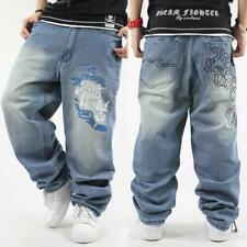 Mens Hip-Hop Jeans Denim Ecko Relaxed Baggy Loose Streetwear HipHop