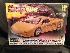 Revell Snap Tite Lamborghini Diablo VT Roadster Model Car Kit Factory Sealed