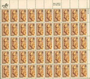 US Stamp - 1971 San Juan, Puerto Rico 50 Stamp Sheet #1437