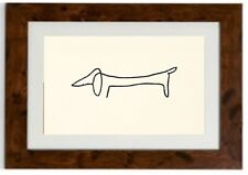 "Pablo Picasso Framed Print ""Le chien"""