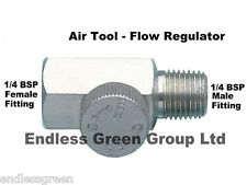 "1/4"" BSP Air Flow Regulator - Control Tool speed stops chatter - compressor"