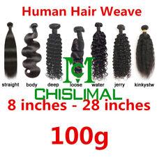 Brazilian Real Human Hair Wave 100g Straight Body Deep Water Kinky 8-28inch