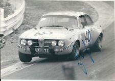 Autograph JAQUES BERGER Pilote automobile belge