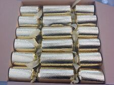 Christmas Crackers In Gold New Pack Of 6