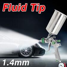 Gravity Feed HVLP Air Paint Spray Gun 1000CC 1.4MM Nozzle+Regulator Paint Primer